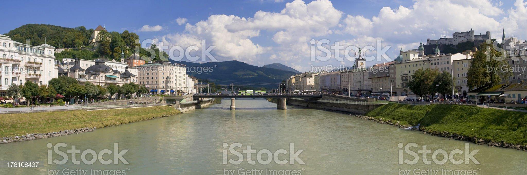 River Salzach at Salzburg royalty-free stock photo