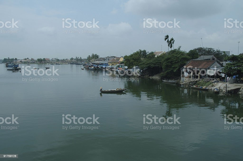 River scenery stock photo