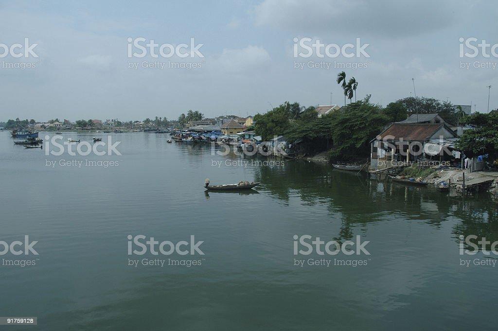 River scenery stock photo