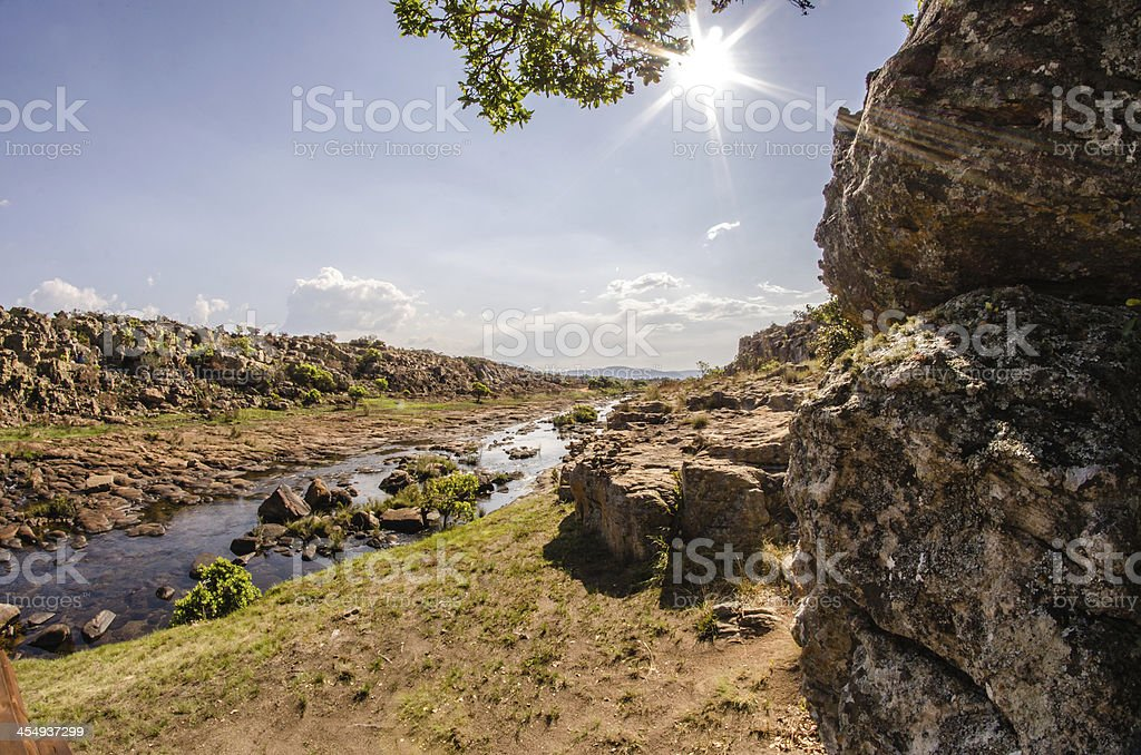 River scenery, South Africa stock photo