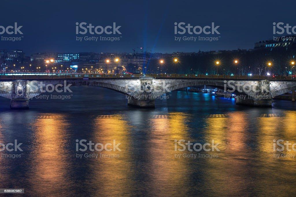 River Seine and Pont des Invalides stock photo