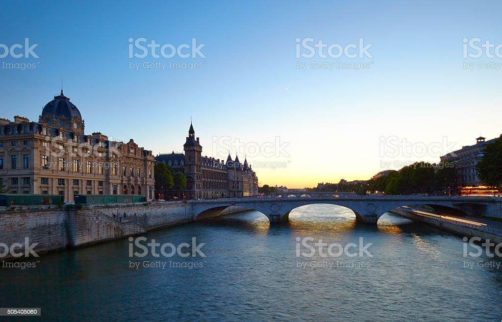 River Seine In Paris stock photo