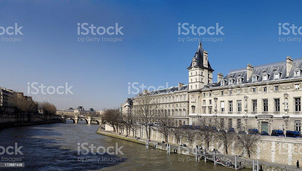 River Seine Panorama royalty-free stock photo