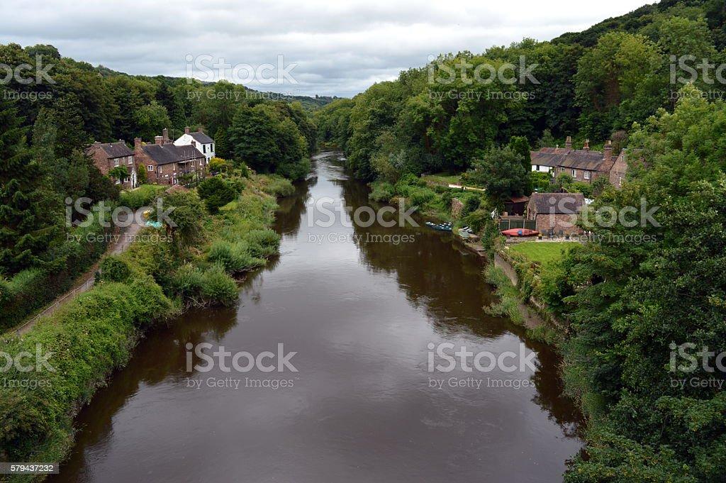 River Severn, Ironbridge stock photo