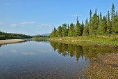 River Shchugor in the national Park 'Yugyd VA'.