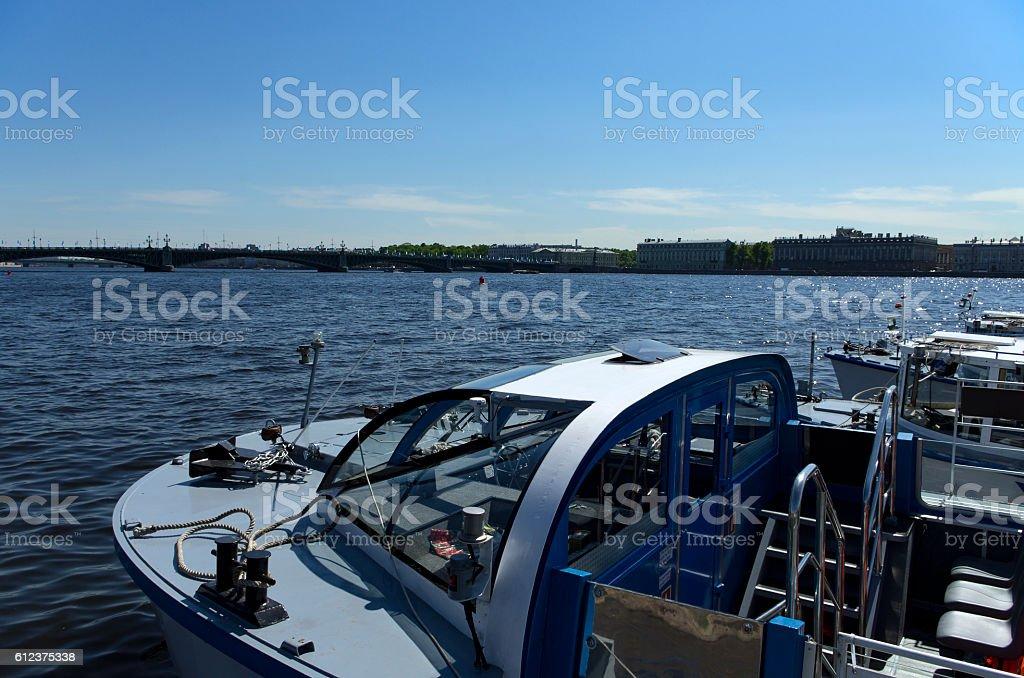 River ship stock photo