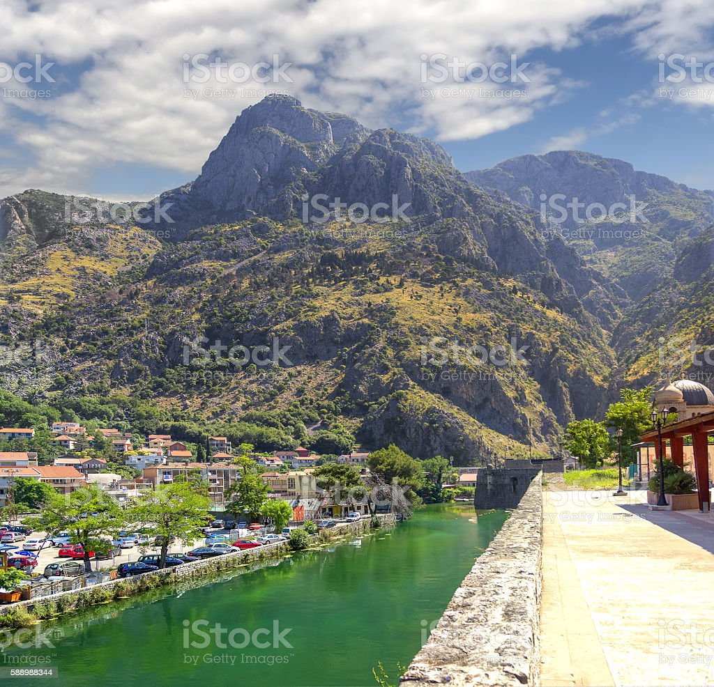 River Shkurda. Kotor, Montenegro stock photo