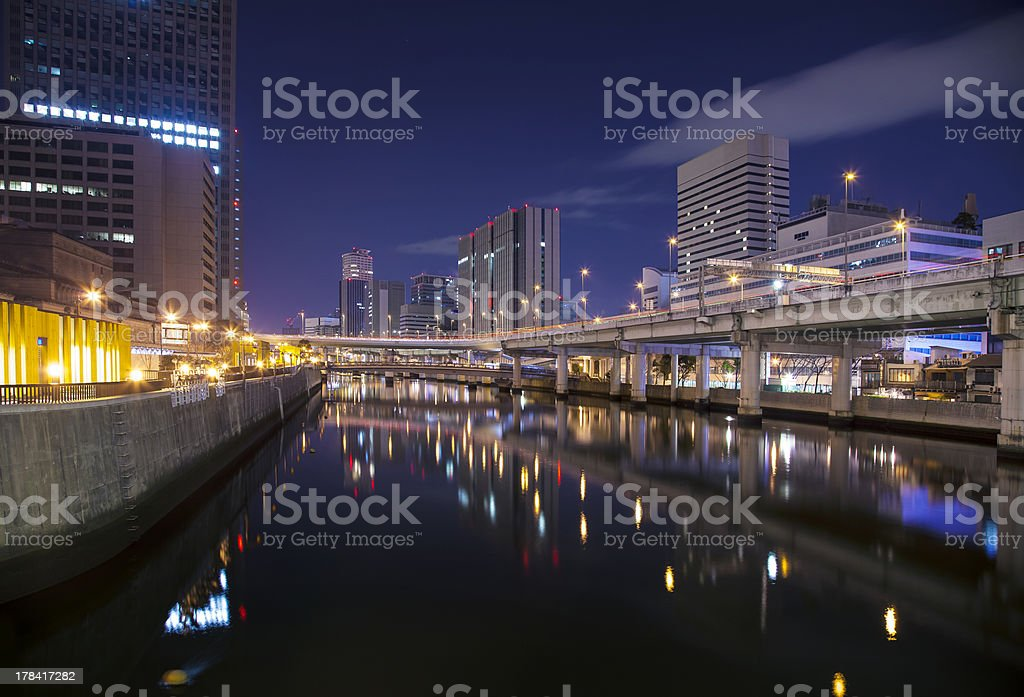 River side at Osaka royalty-free stock photo