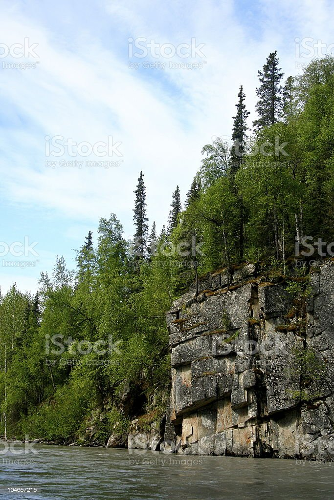 River side Cliff royalty-free stock photo