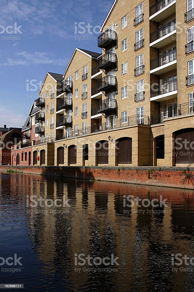 River Side Flats stock photo