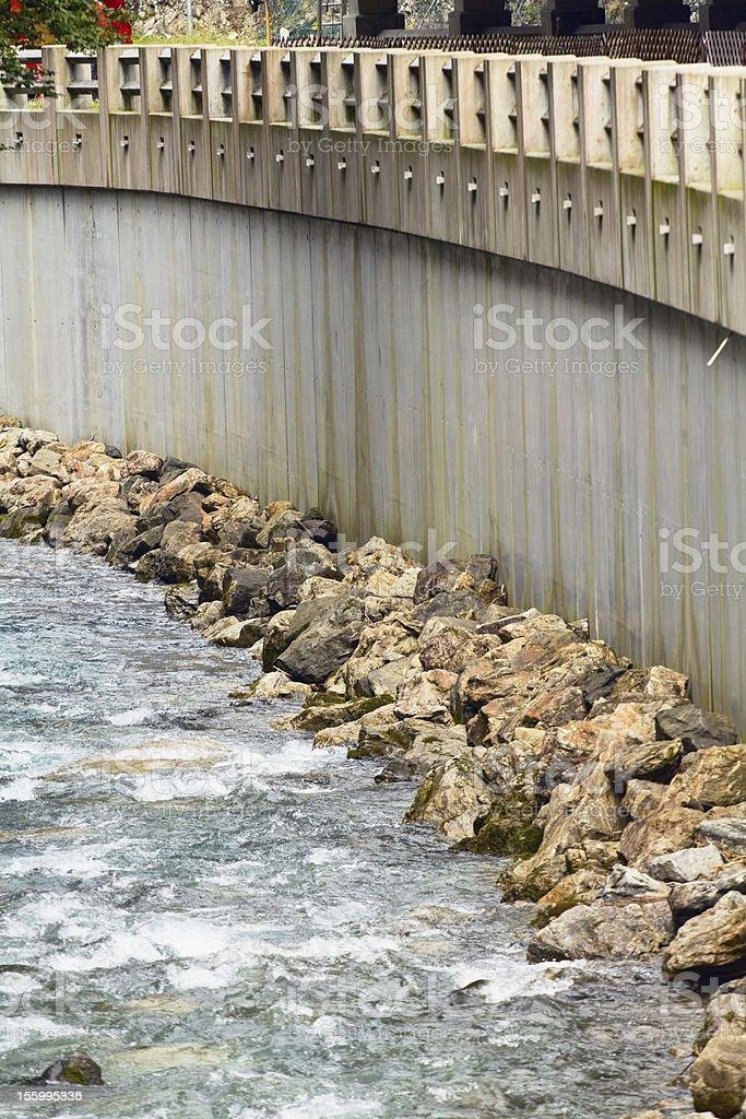 River Stillach royalty-free stock photo