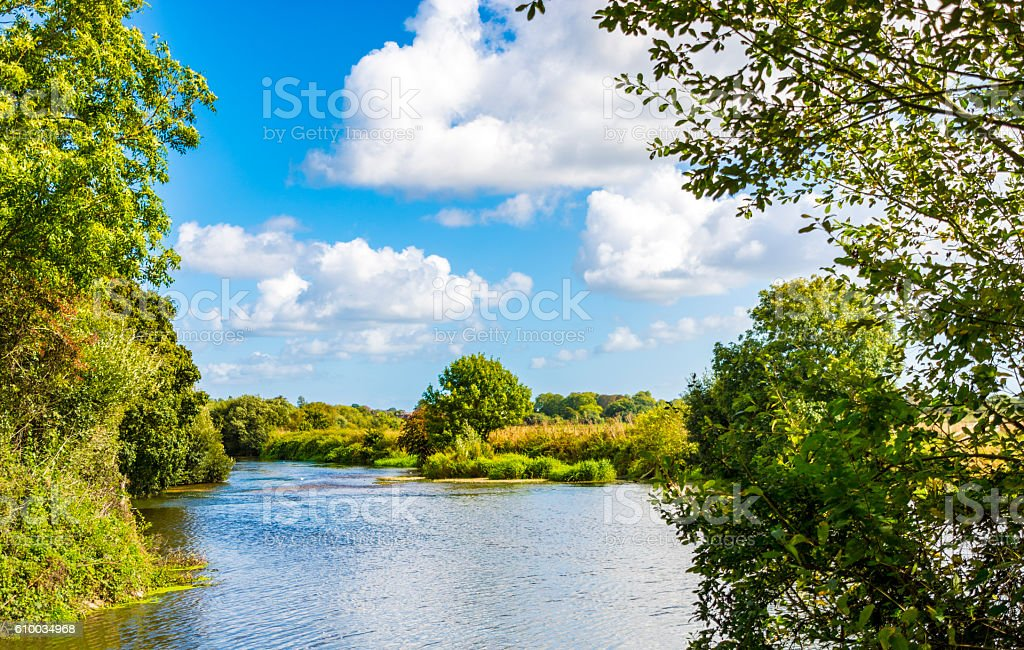 River Stour View in Dorset stock photo