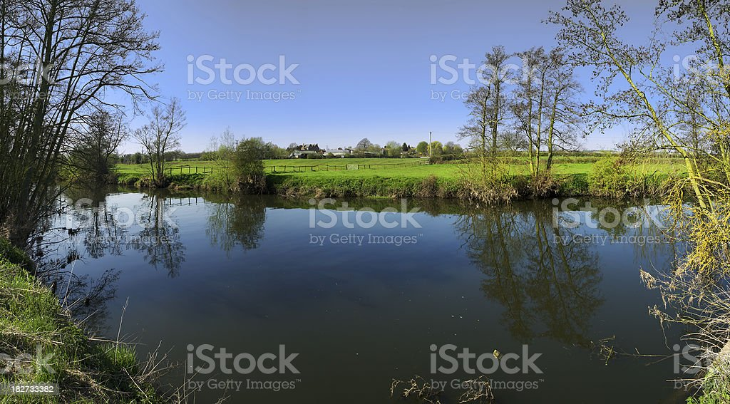 river sunlight royalty-free stock photo