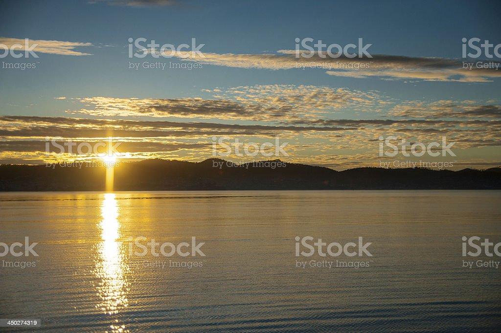 Rio nascer do sol foto royalty-free