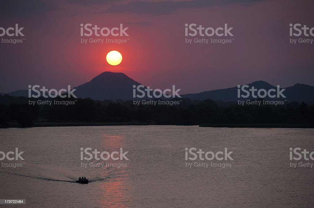 River sunset royalty-free stock photo
