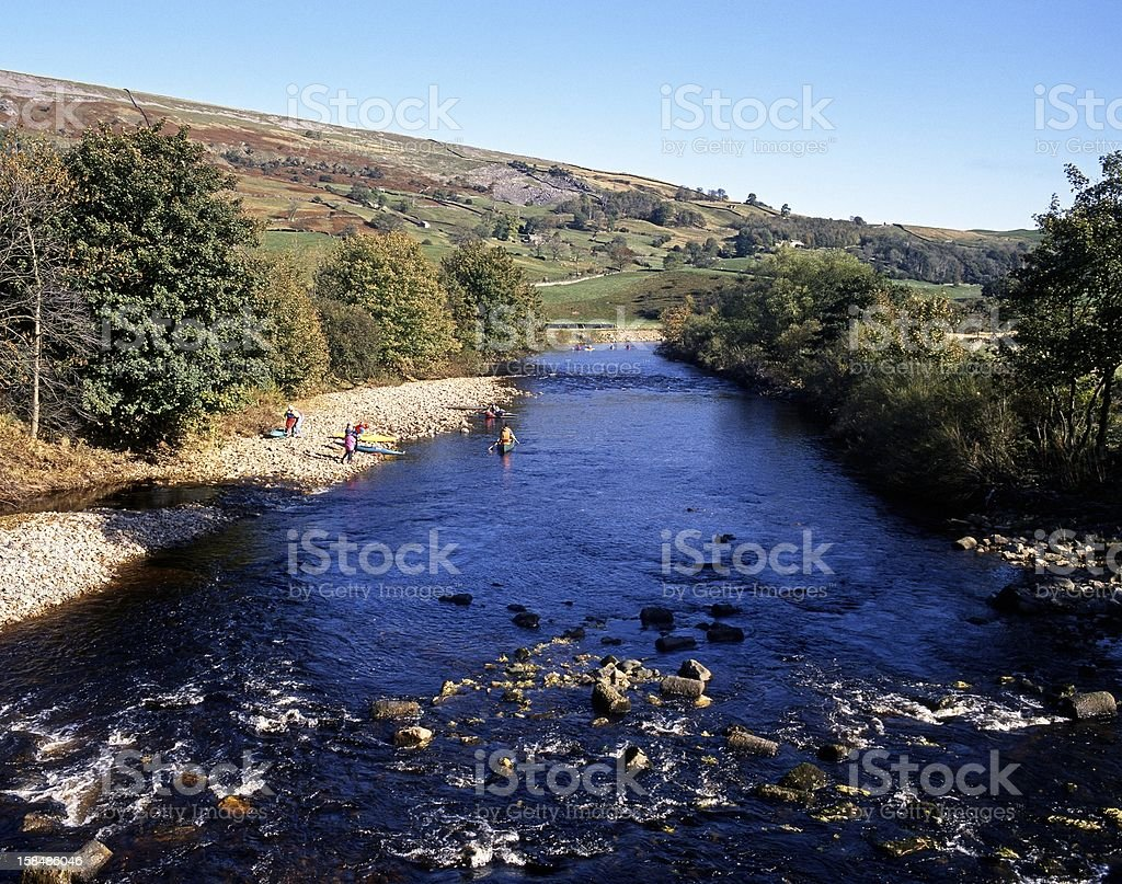 River Swale, Grinton, Yorkshire Dales. royalty-free stock photo