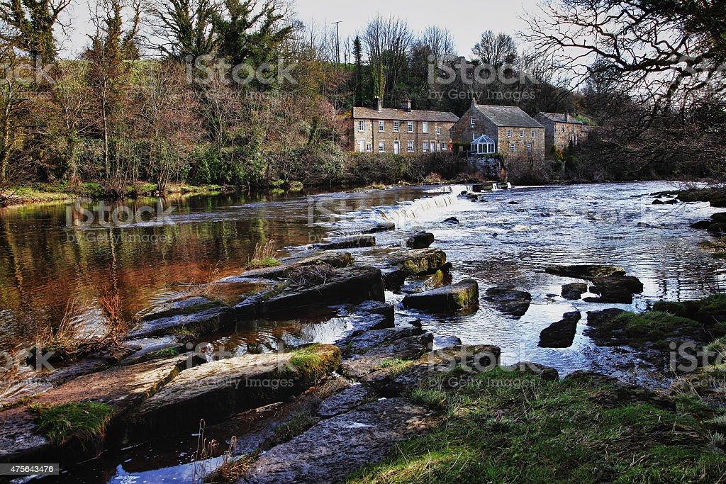 river tees,Barnard Castle,Co Durham,England stock photo