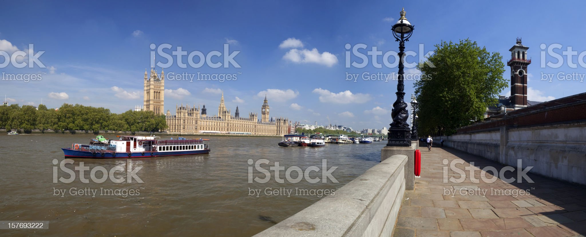 River Thames And The Houses Of Parliament royalty-free stock photo