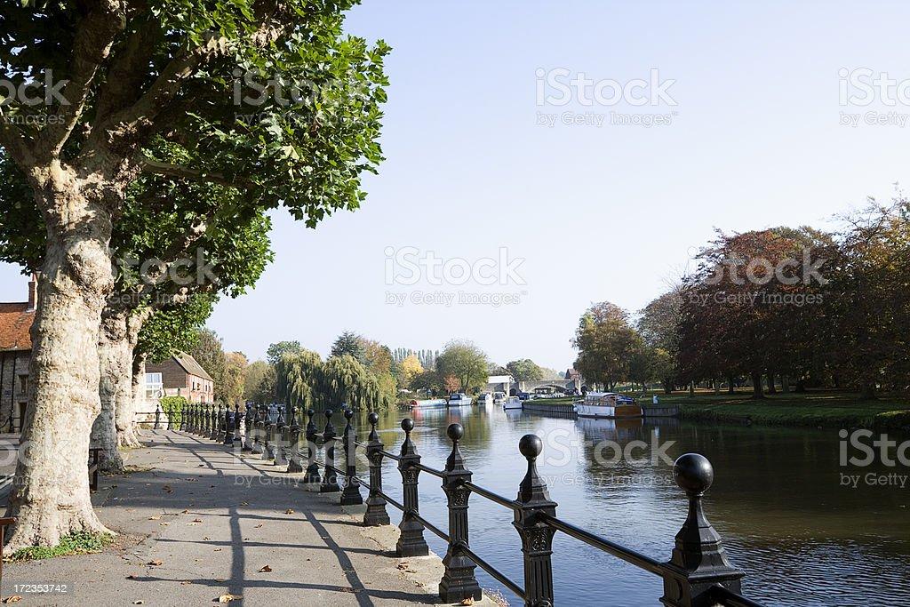 River Thames at Abingdon stock photo