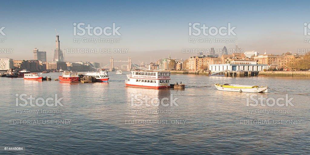 River Thames at Bermondsey stock photo