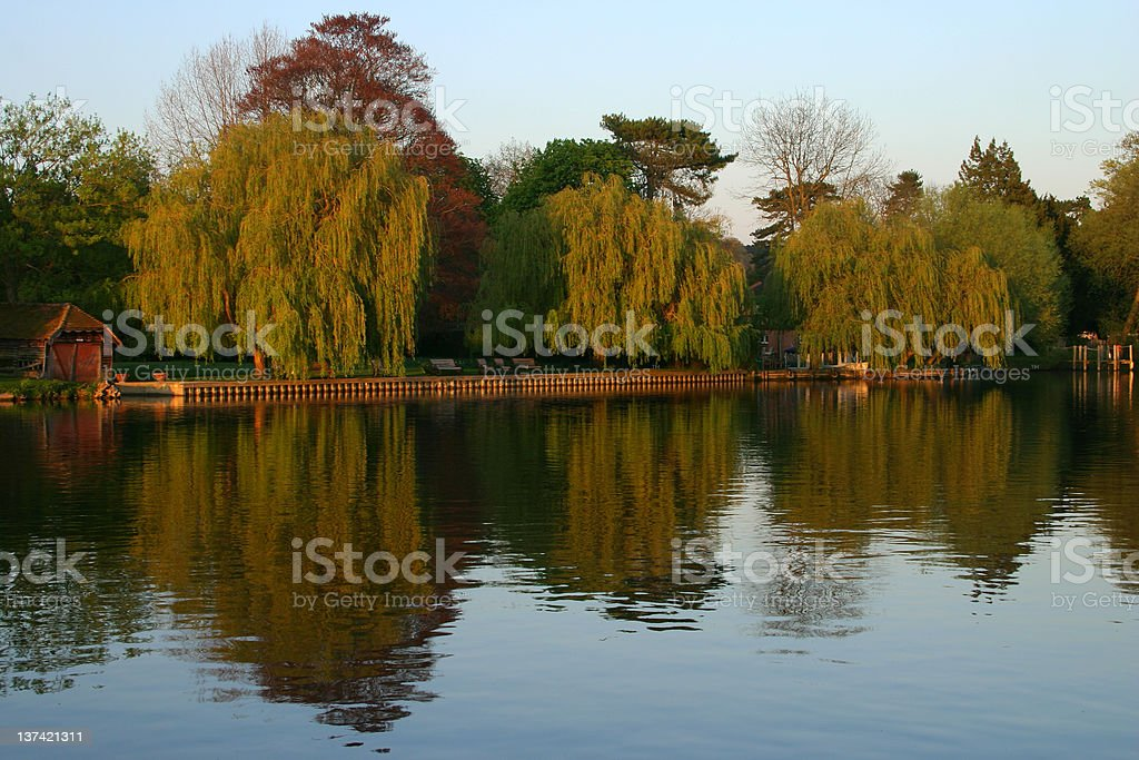 River Thames At Cookham stock photo