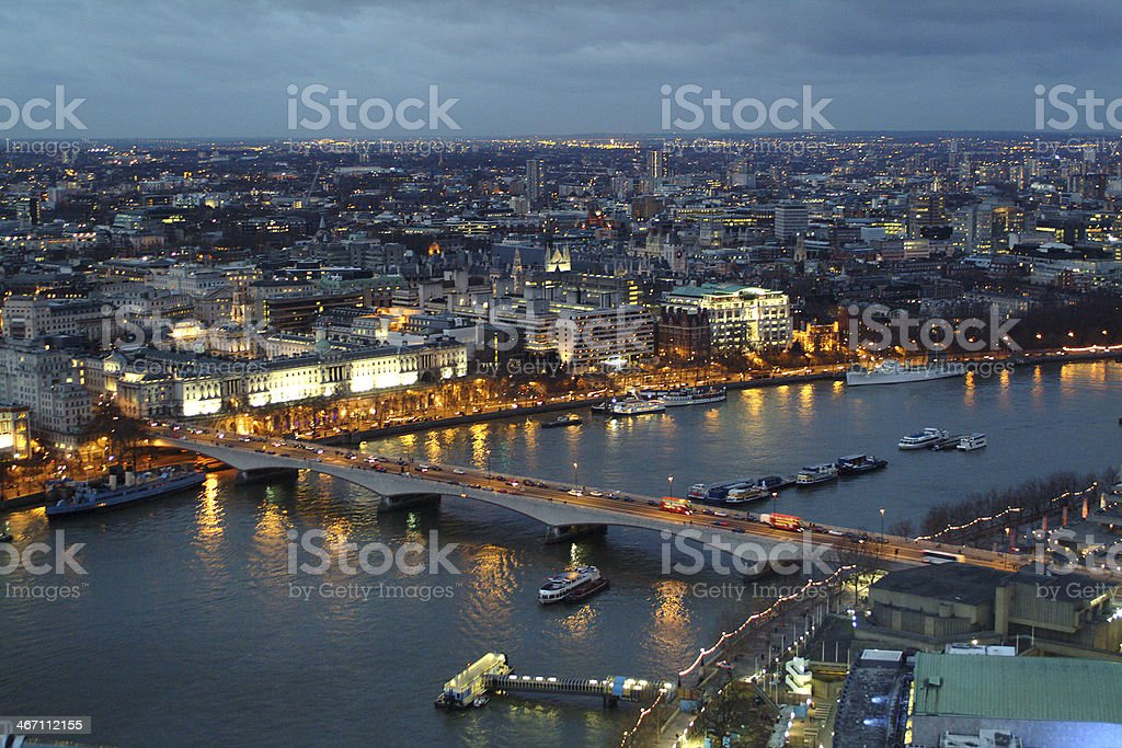 River Thames at evening royalty-free stock photo