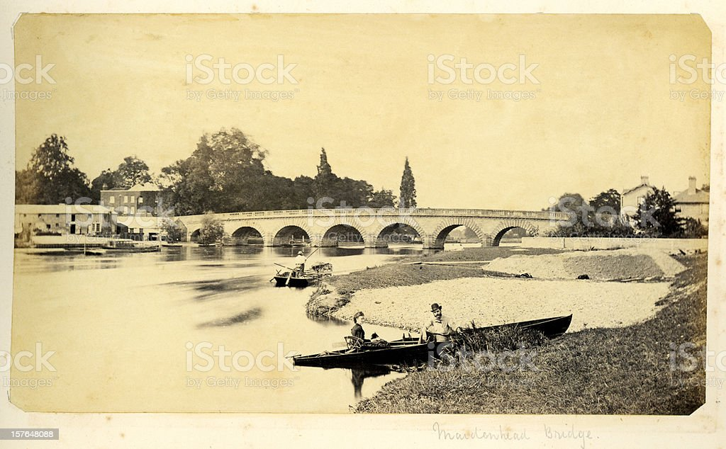 River Thames at Maidenhead Bridge royalty-free stock photo