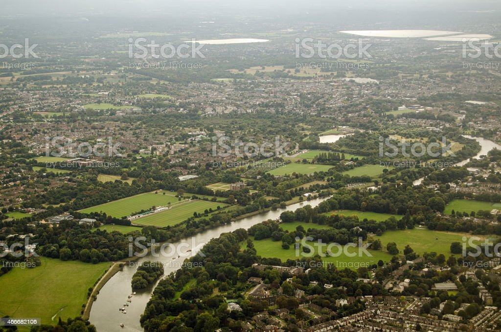 River Thames at Richmond stock photo