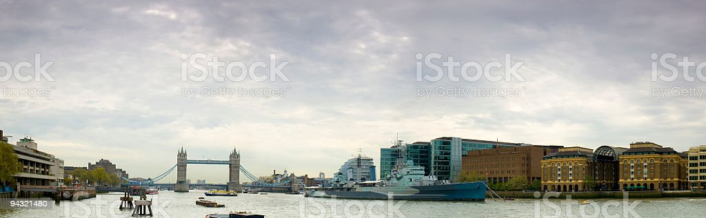River Thames at Tower Bridge stock photo
