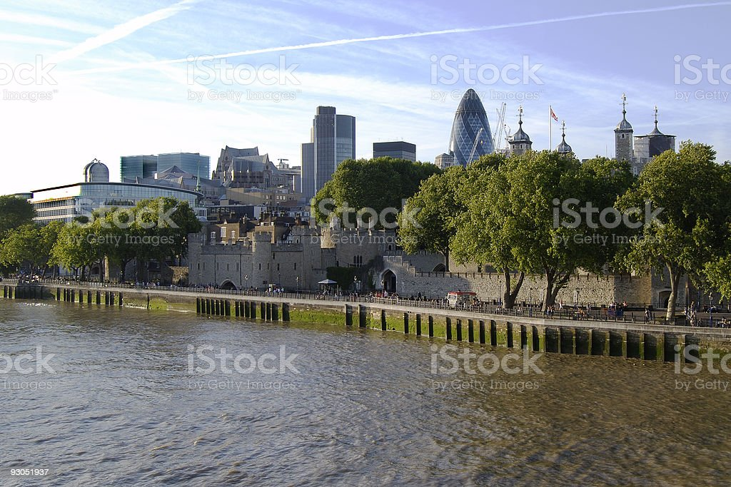 River Thames at Tower of London, England royalty-free stock photo