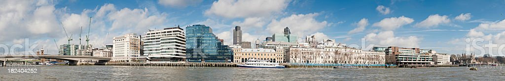 River Thames City of London downtown financial district panorama UK royalty-free stock photo