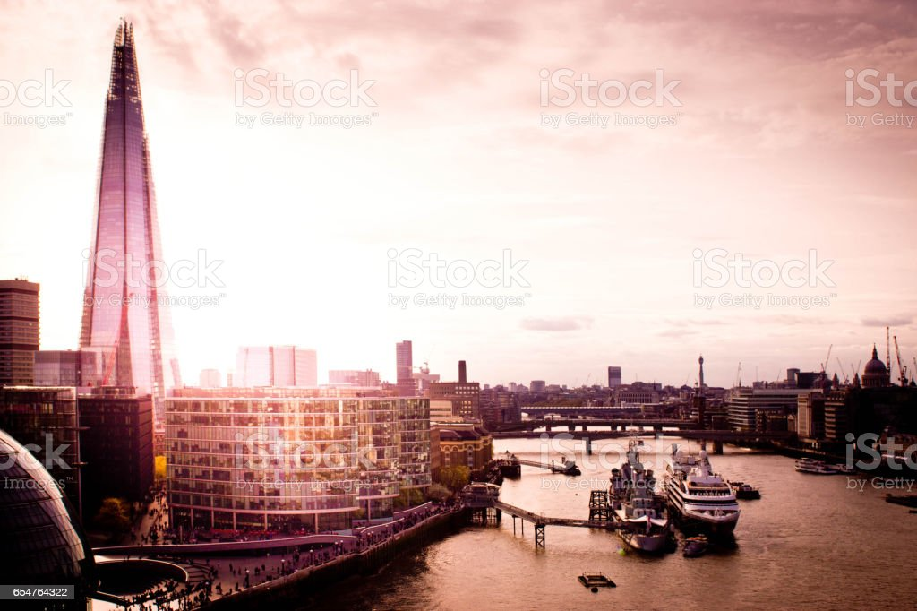 River Thames facing West stock photo