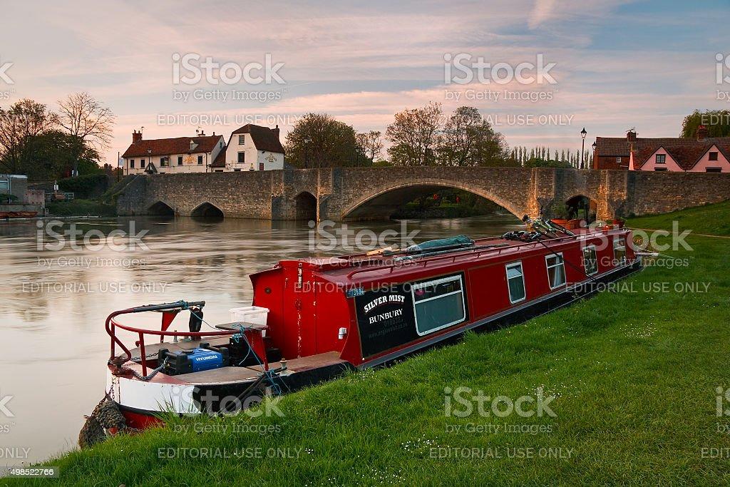 River Thames in Abingdon, UK. stock photo