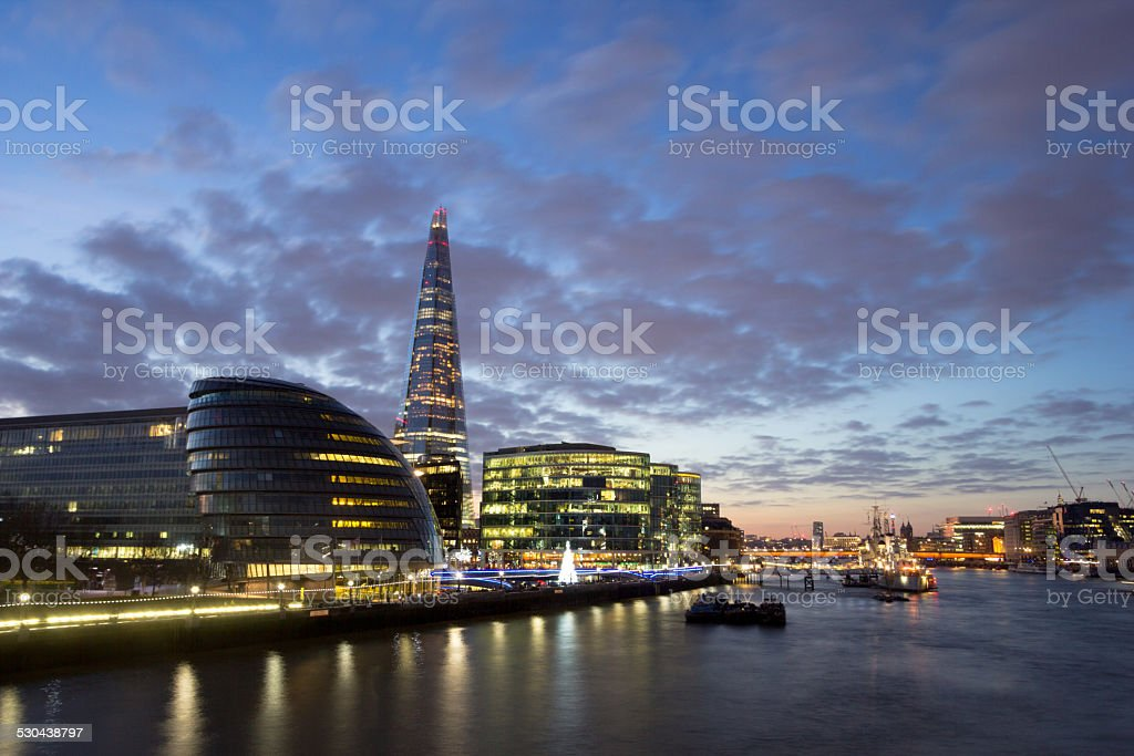 River Thames in London, England stock photo