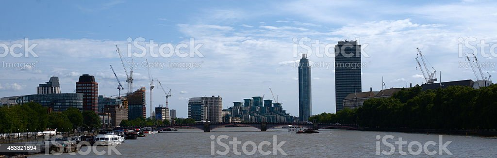 River Thames, Lambeth bridge stock photo
