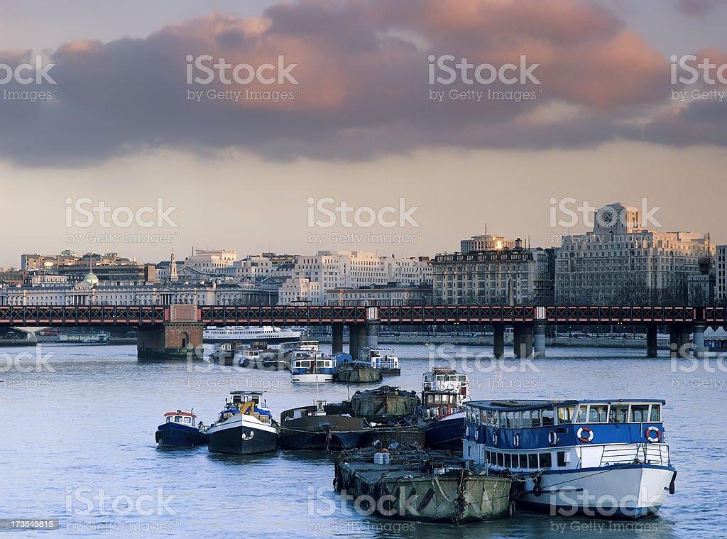 river thames london royalty-free stock photo