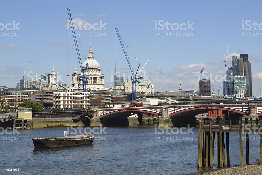 River Thames London royalty-free stock photo