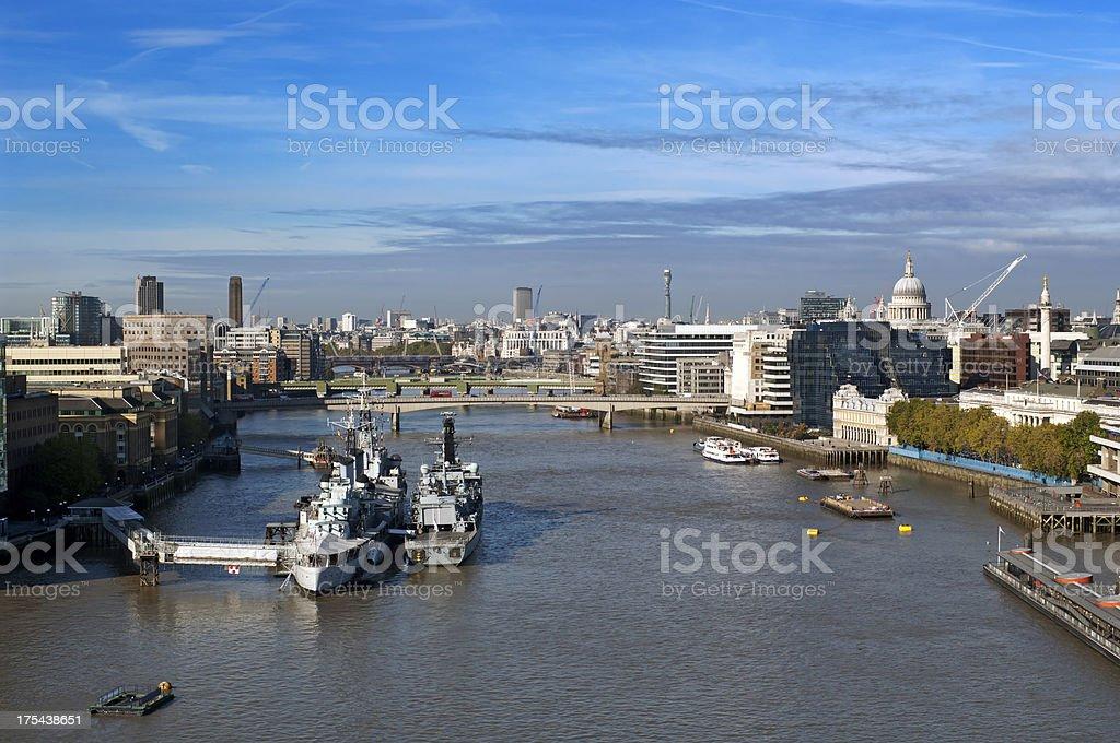 River Thames London skyline royalty-free stock photo