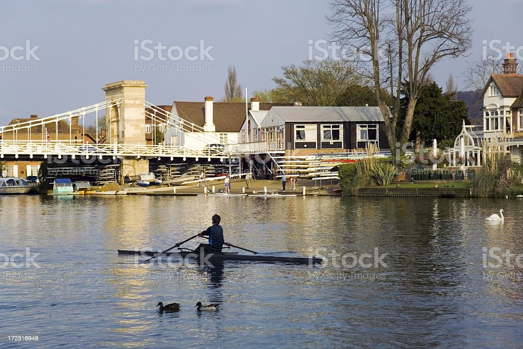 river thames marlow stock photo