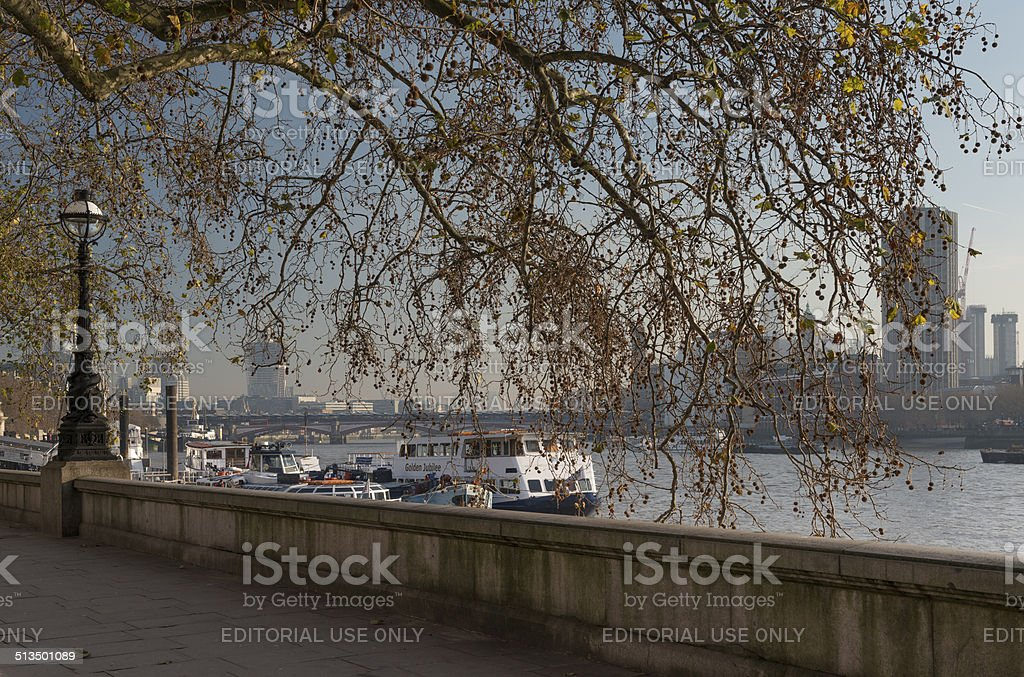 River Thames on a morning in winter stock photo