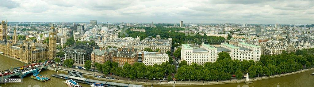 River Thames panorama, London royalty-free stock photo