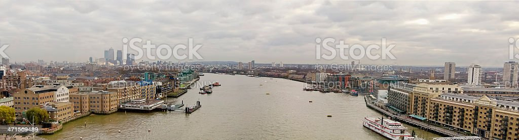 River Thames Panorama royalty-free stock photo