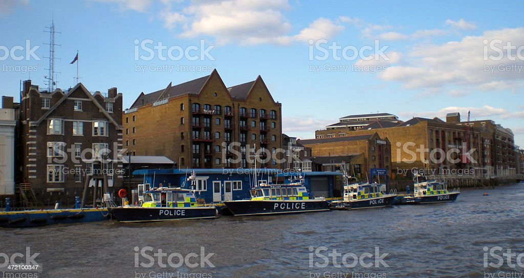 River Thames Police royalty-free stock photo