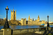River Thames showing Big Ben and The Houses of  Parliament