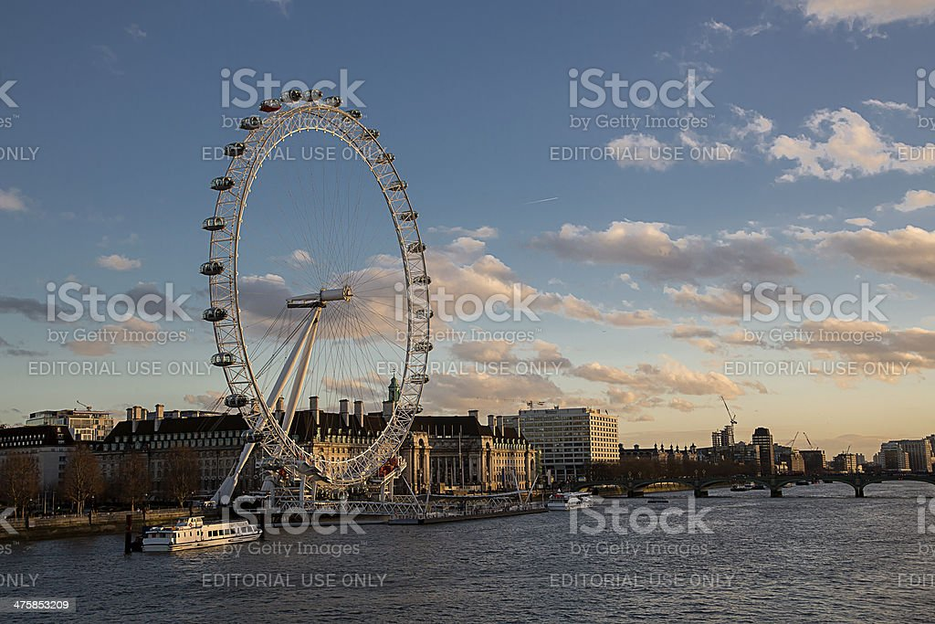River Thames View , London royalty-free stock photo