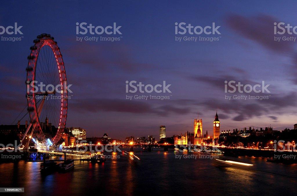 River Thames views at night  21111 royalty-free stock photo