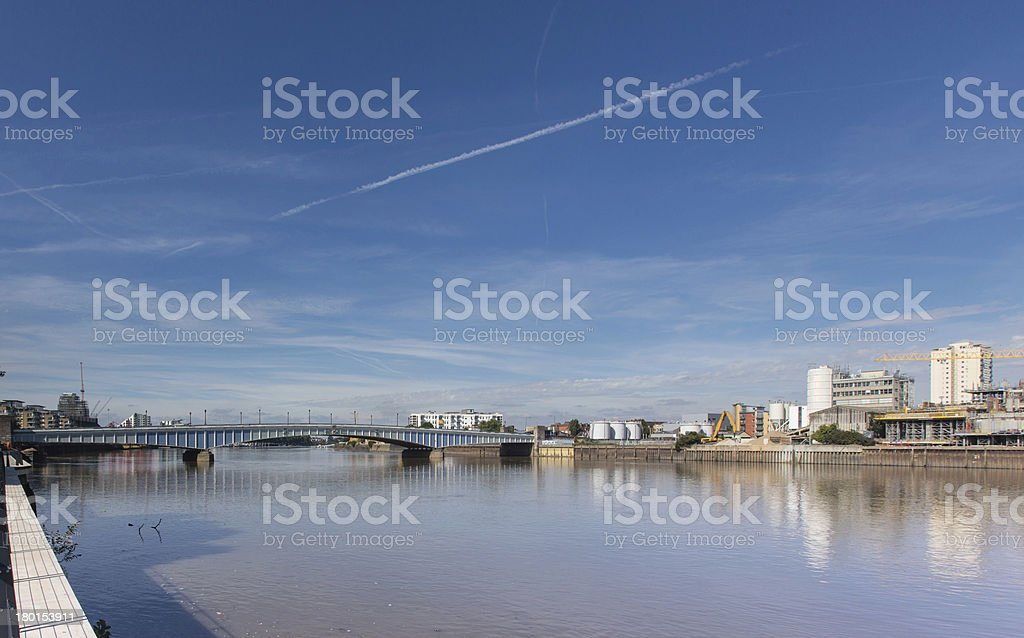 River Thames, Wandsworth, London stock photo