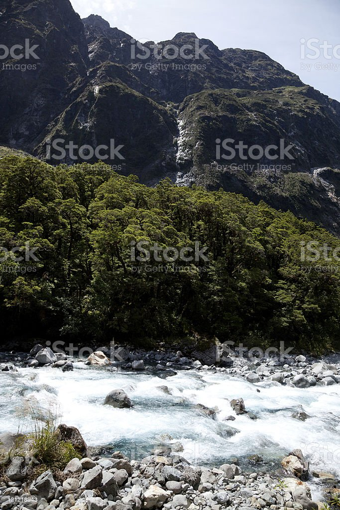 River thashing stock photo