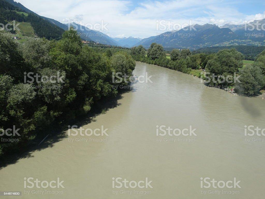 River The Drava stock photo