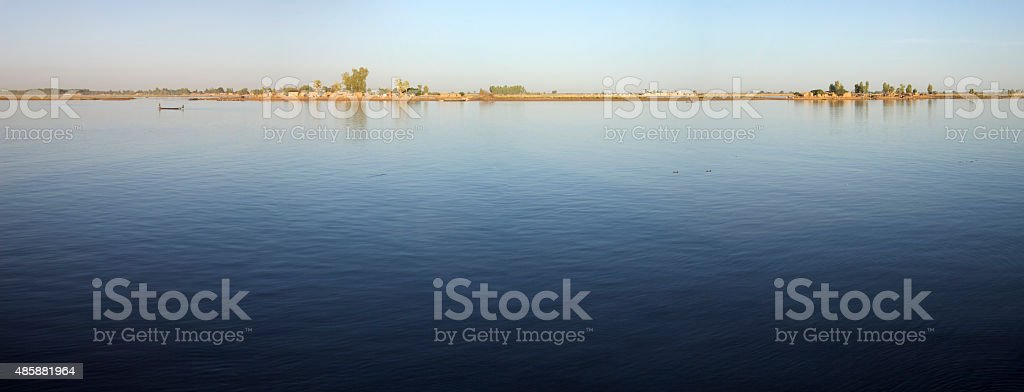 River the Niger in Mopti, Mali stock photo